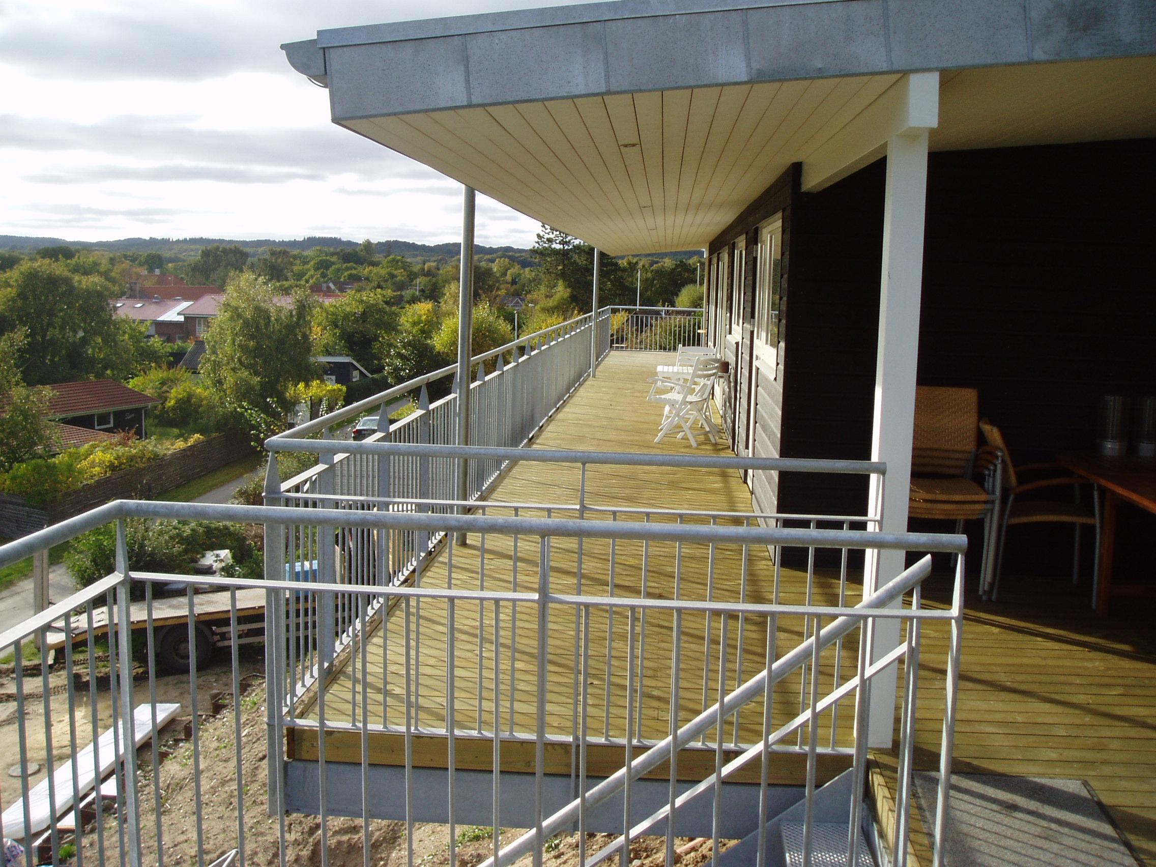 Altan og trappe Ebeltoft